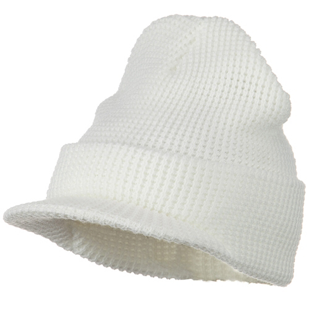 Thermal Stitch Jeep Beanie Visor - White - Hats and Caps Online Shop - Hip Head Gear