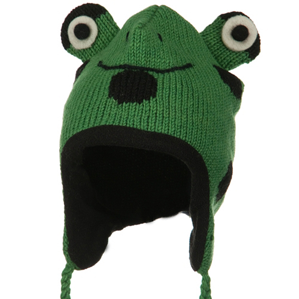 Adult Animal Wool Ski Beanie - Frog - Hats and Caps Online Shop - Hip Head Gear