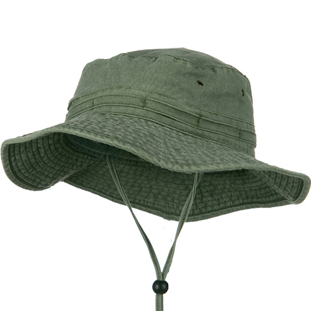 Extra Big Size Fishing Hats-Olive - Hats and Caps Online Shop - Hip Head Gear
