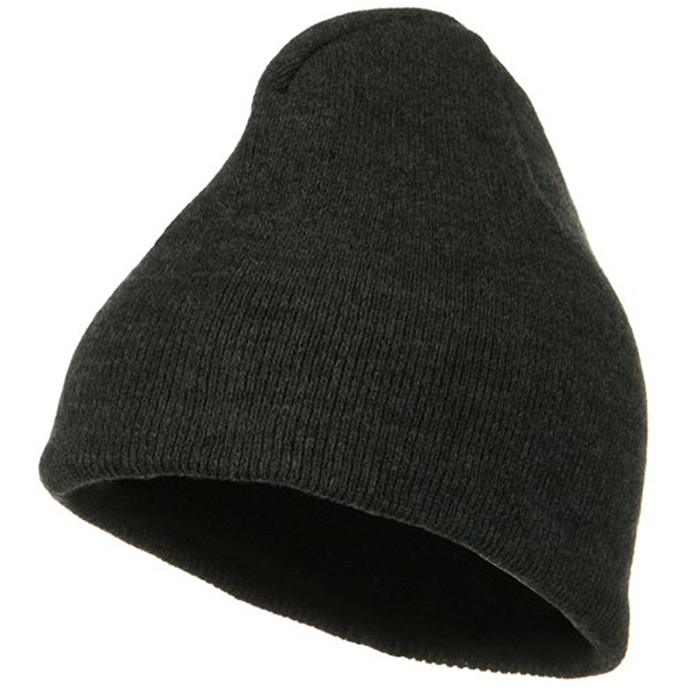 Fleece-Lined Plain Beanie - Charcoal - Hats and Caps Online Shop - Hip Head Gear