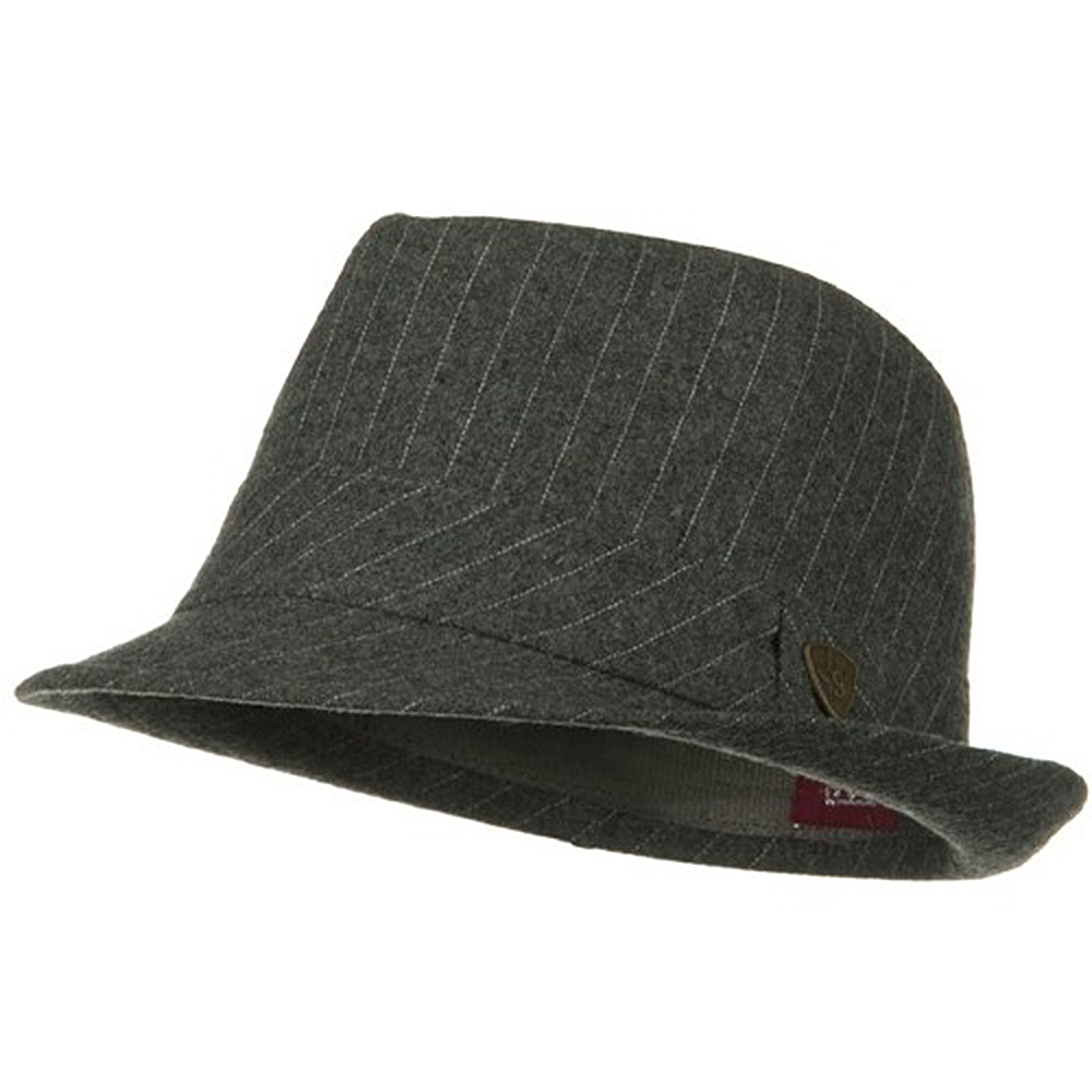 ML Wool Blend Pinstripe Fedora - Grey - Hats and Caps Online Shop - Hip Head Gear