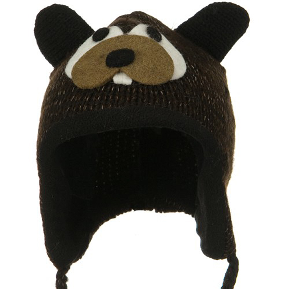 Toddler Animal Wool Ski Hat - Beaver a5560ef4236