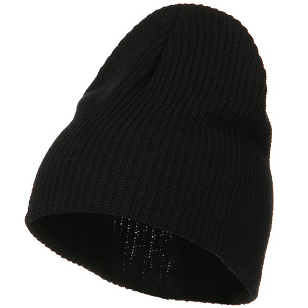 Eco Cotton Ribbed Big Classic Beanie - Black - Hats and Caps Online Shop - Hip Head Gear