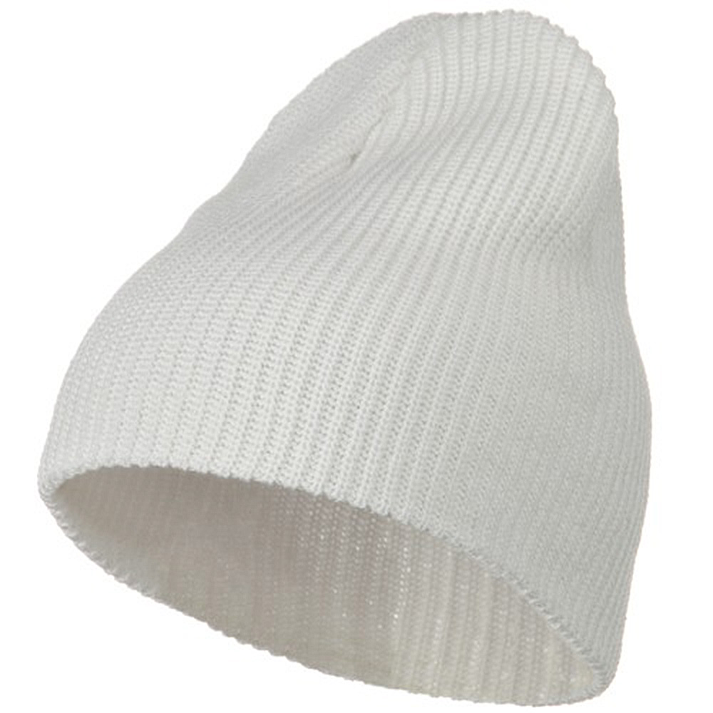 Eco Cotton Ribbed Big Classic Beanie - White - Hats and Caps Online Shop - Hip Head Gear