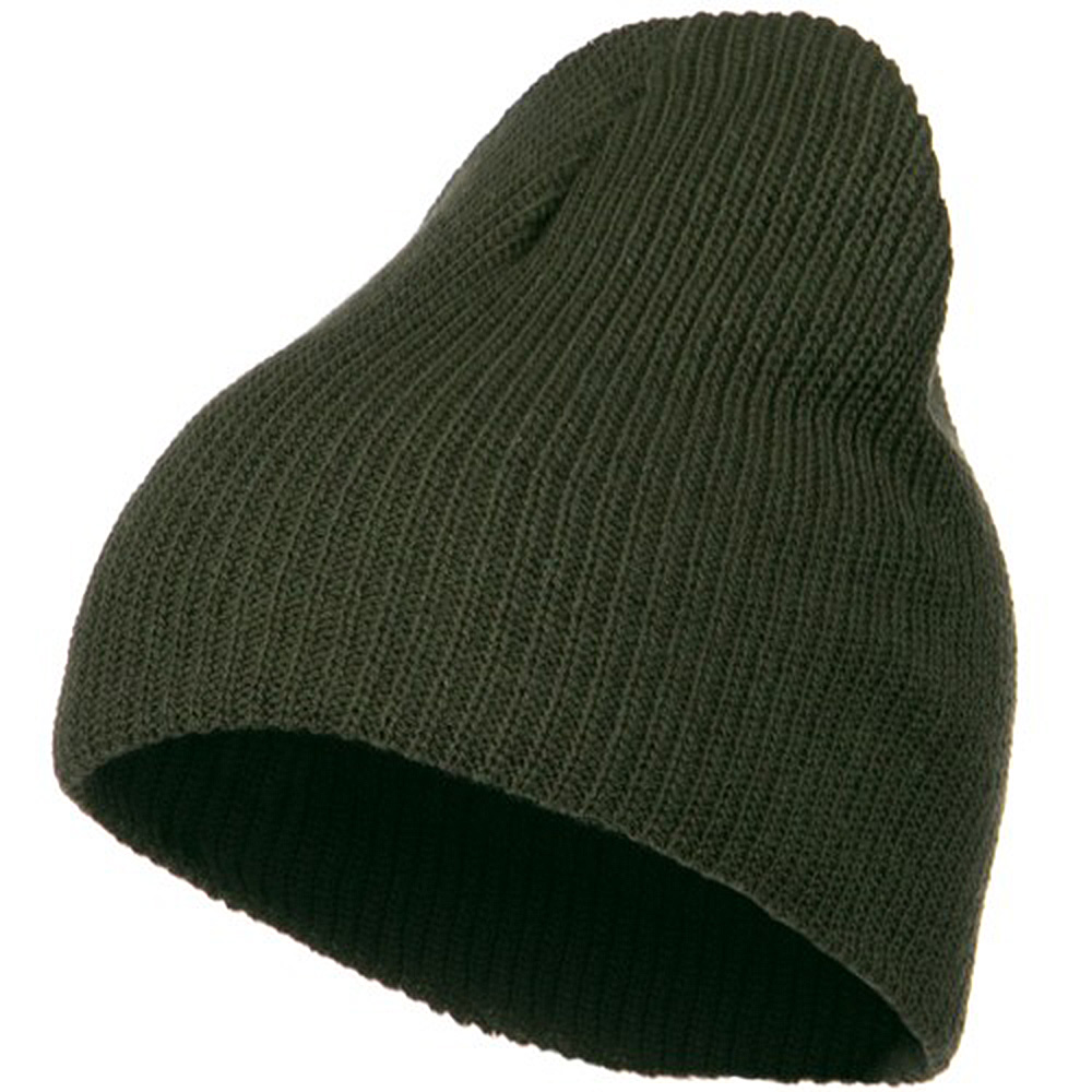 Eco Cotton Ribbed Big Classic Beanie - Olive - Hats and Caps Online Shop - Hip Head Gear