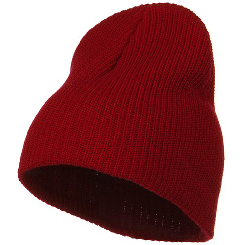Eco Cotton Ribbed Big Classic Beanie - Red - Hats and Caps Online Shop - Hip Head Gear