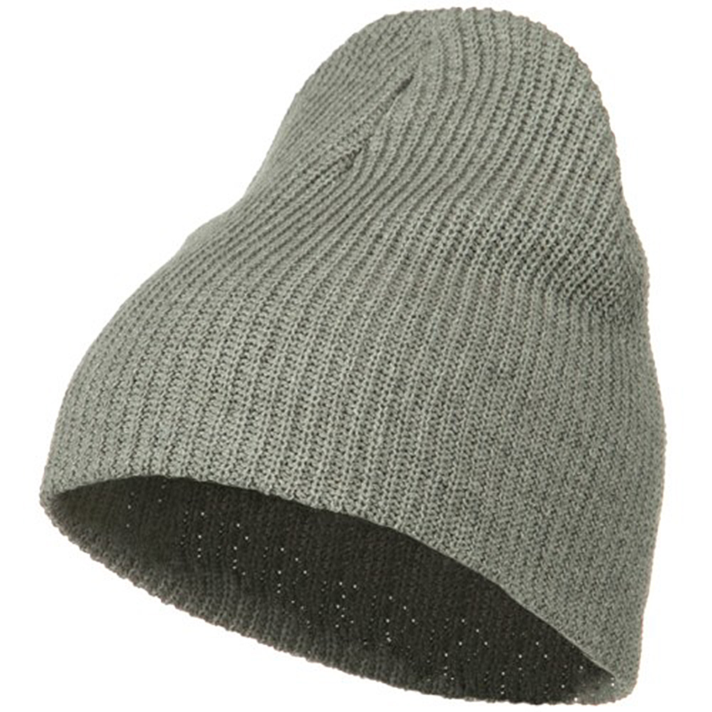 Eco Cotton Ribbed Big Classic Beanie - Grey - Hats and Caps Online Shop - Hip Head Gear