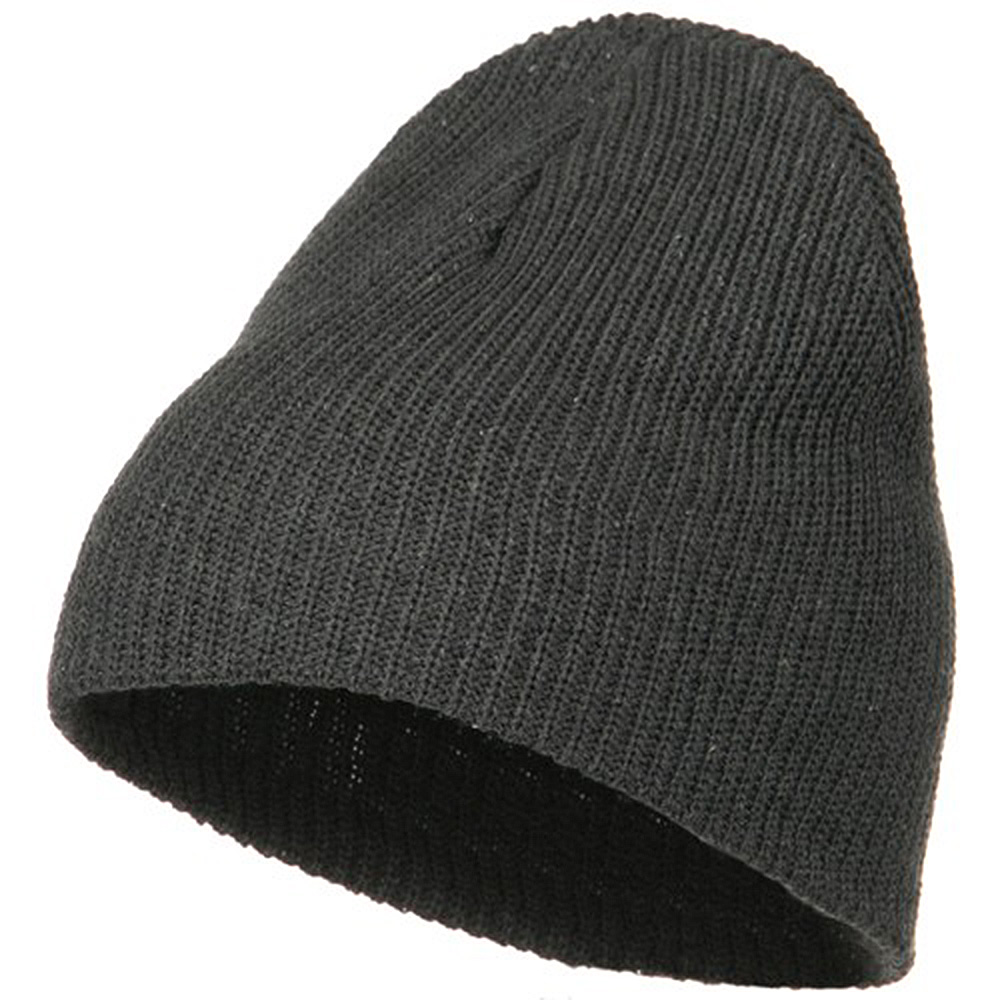 Eco Cotton Ribbed Big Classic Beanie - Charcoal - Hats and Caps Online Shop - Hip Head Gear