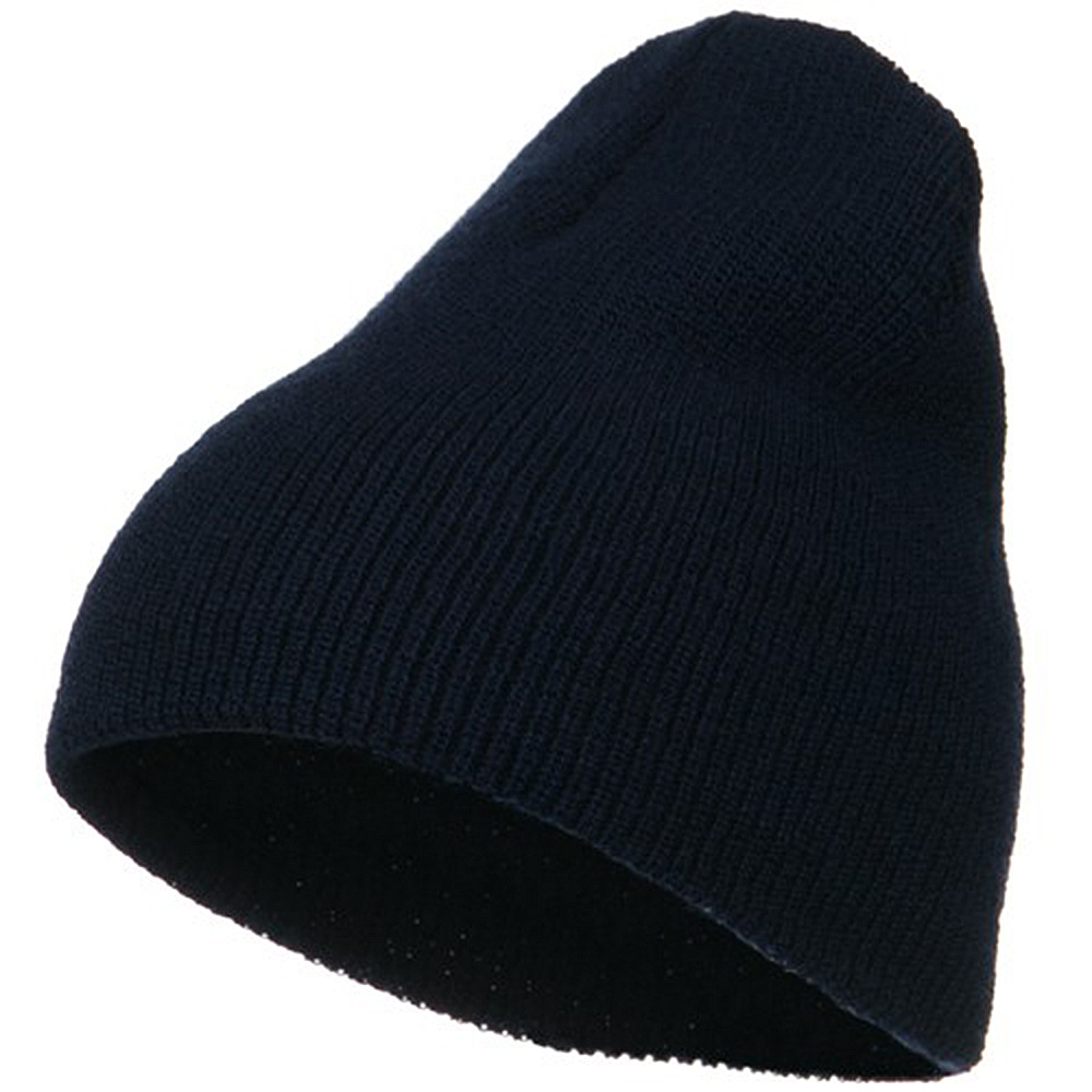 Big Stretch Heavy Wool Military Beanie - Navy - Hats and Caps Online Shop - Hip Head Gear