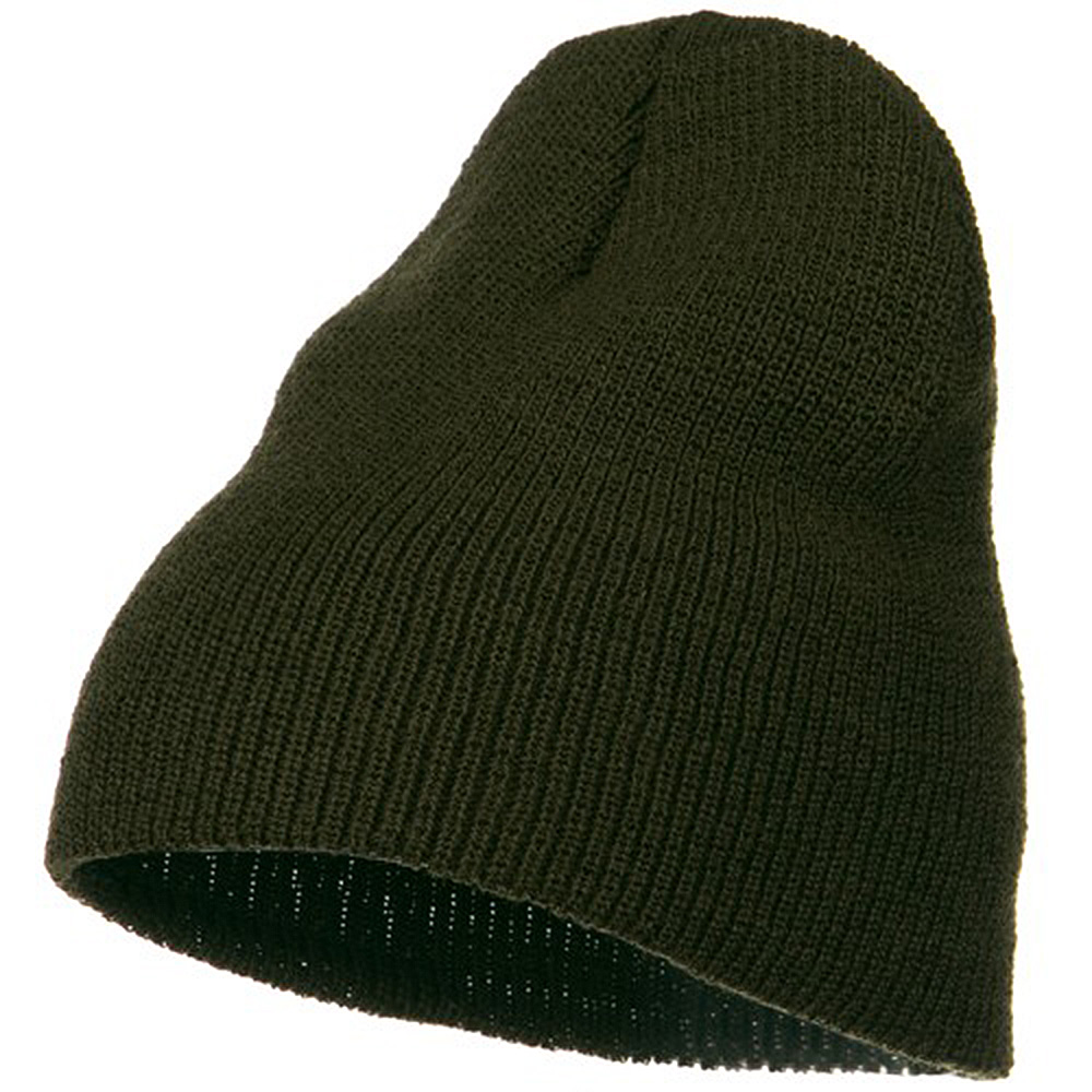 Big Stretch Heavy Wool Military Beanie - Olive - Hats and Caps Online Shop - Hip Head Gear