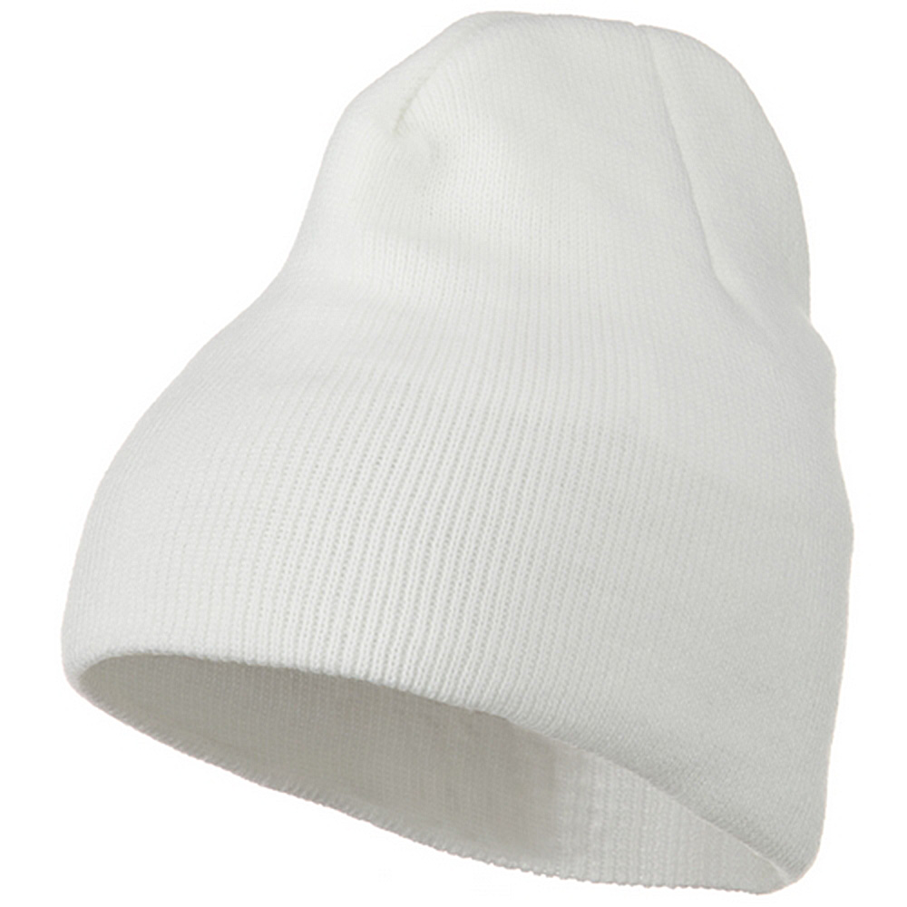 Classic Beanie Stretch - White - Hats and Caps Online Shop - Hip Head Gear
