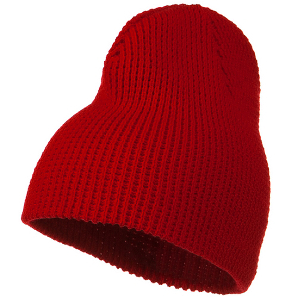 Big Stretch Waffle Stitch Short Beanie - Red - Hats and Caps Online Shop - Hip Head Gear