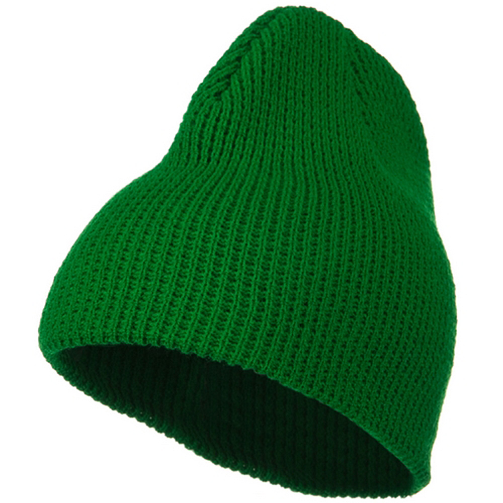 Big Stretch Waffle Stitch Short Beanie - Kelly - Hats and Caps Online Shop - Hip Head Gear