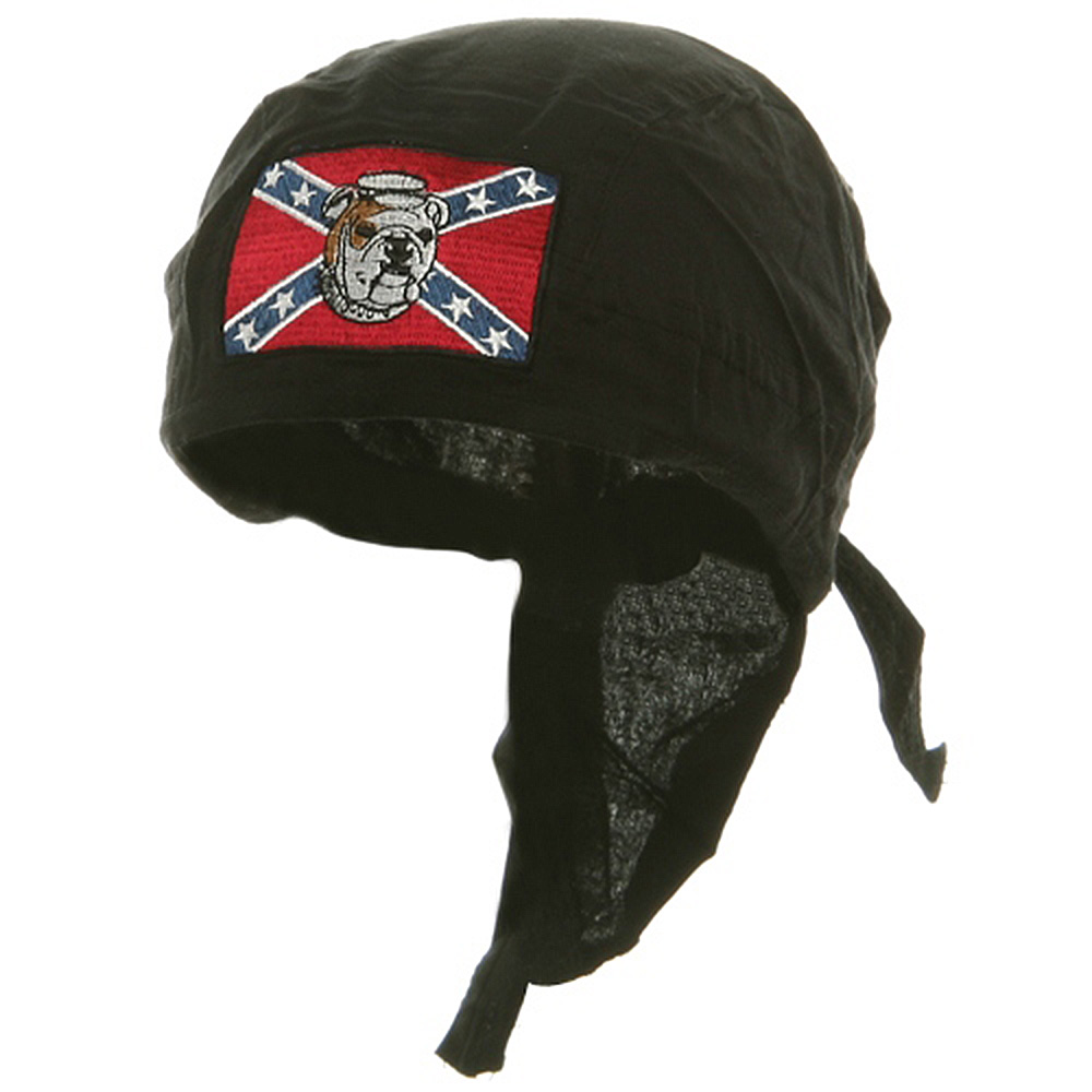 Embroidery Series Head Wrap-Rebel Flag Dog - Hats and Caps Online Shop - Hip Head Gear