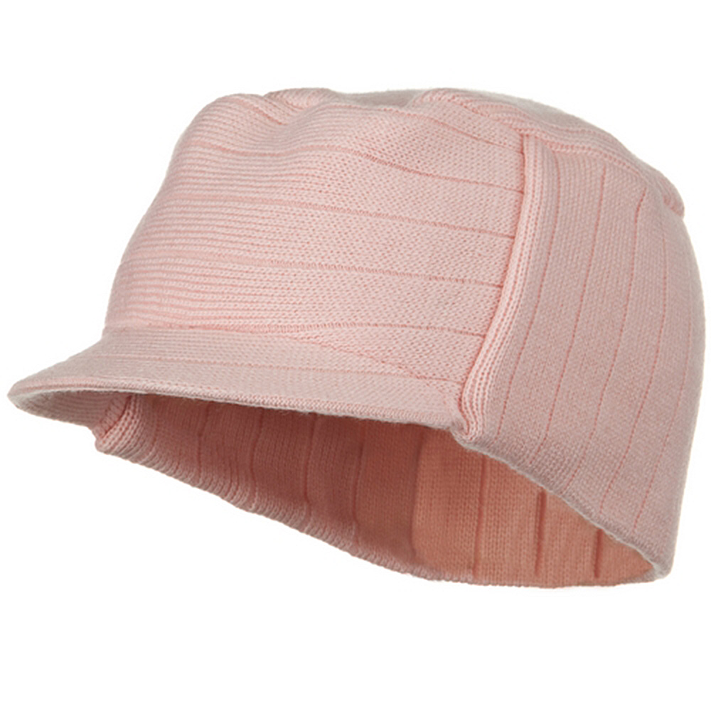 Knitting MG Disel Beanie Visor - Pink - Hats and Caps Online Shop - Hip Head Gear