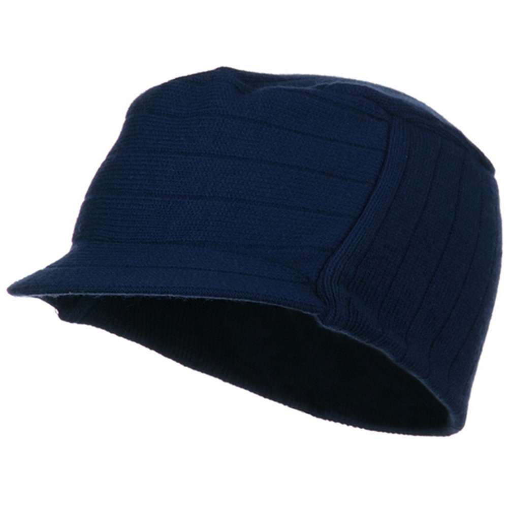 Knitting MG Disel Beanie Visor - Navy - Hats and Caps Online Shop - Hip Head Gear