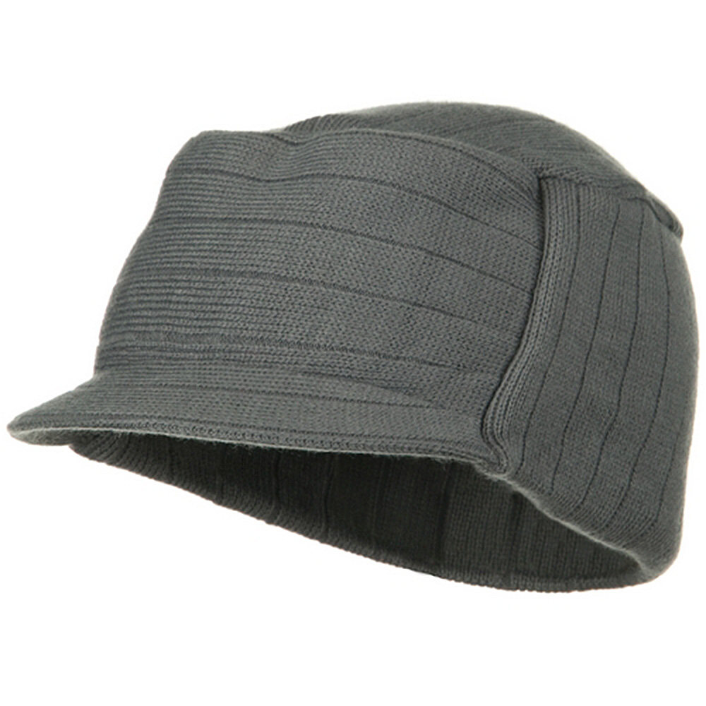 Knitting MG Disel Beanie Visor - Grey - Hats and Caps Online Shop - Hip Head Gear