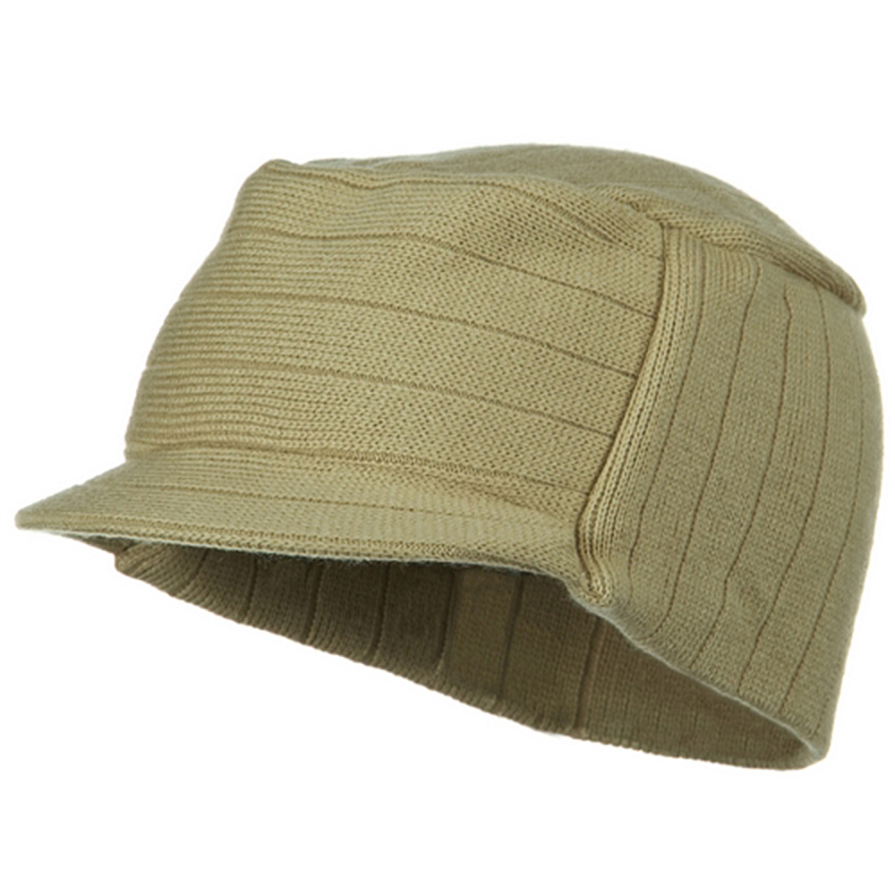 Knitting MG Disel Beanie Visor - Camel - Hats and Caps Online Shop - Hip Head Gear