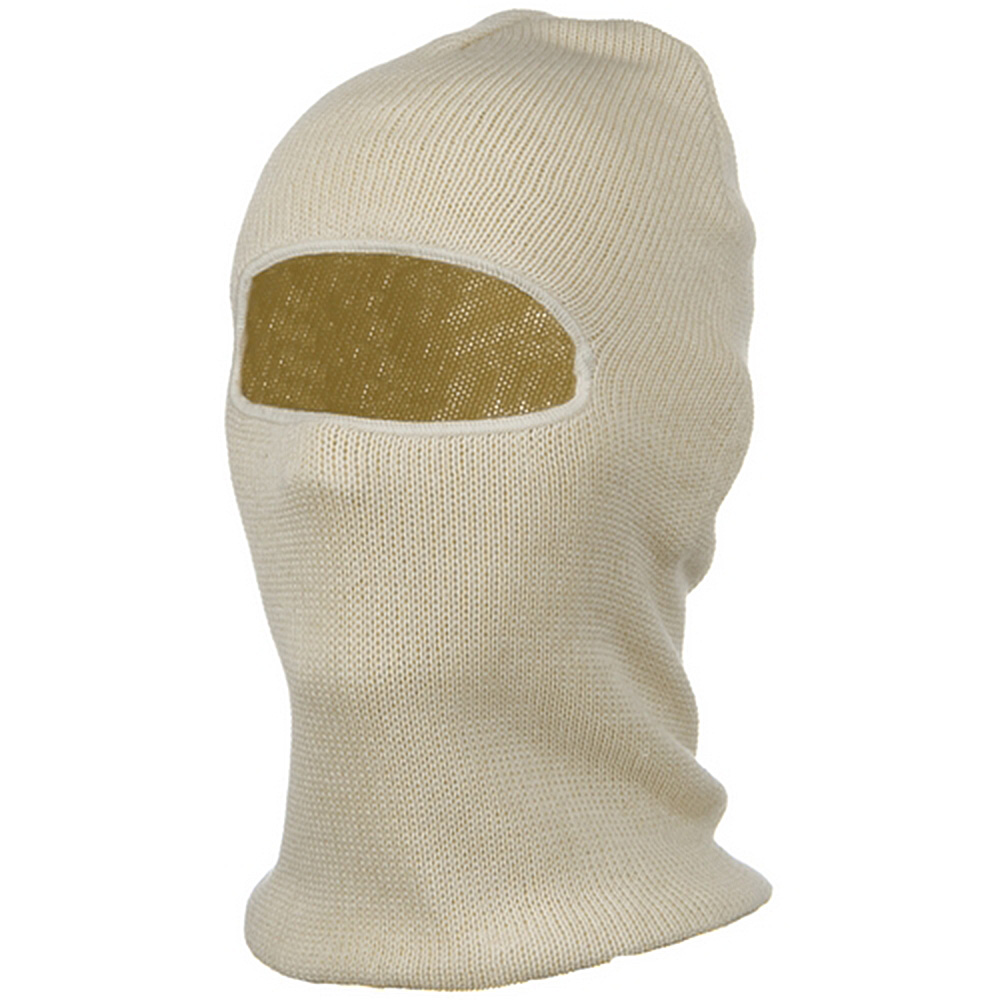 Cotton One Hole Face Mask - Natural - Hats and Caps Online Shop - Hip Head Gear
