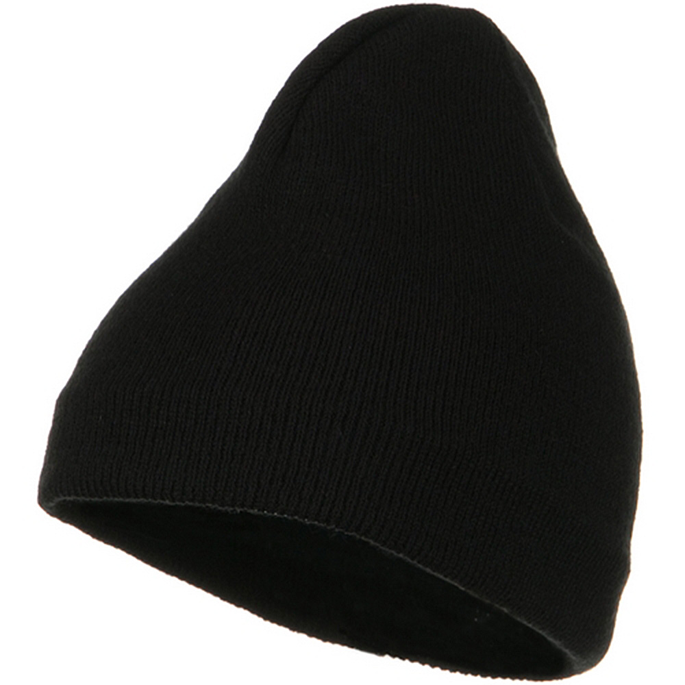 Fleece-Lined Plain Beanie - Black - Hats and Caps Online Shop - Hip Head Gear