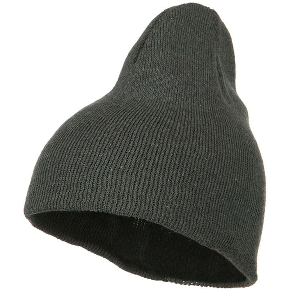 Classic 3 Ply Beanie - Grey - Hats and Caps Online Shop - Hip Head Gear