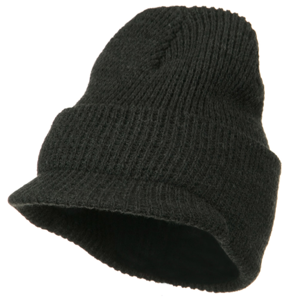 Thermal Stitch Jeep Beanie Visor - Charcoal - Hats and Caps Online Shop - Hip Head Gear