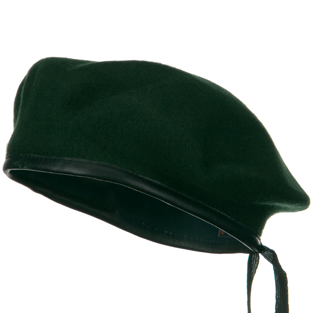 Military Style Beret - Green - Hats and Caps Online Shop - Hip Head Gear