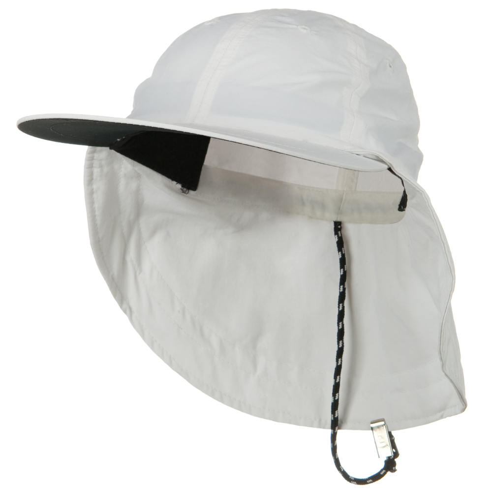 Outdoor Sunbuster Flap Cap - White - Hats and Caps Online Shop - Hip Head Gear