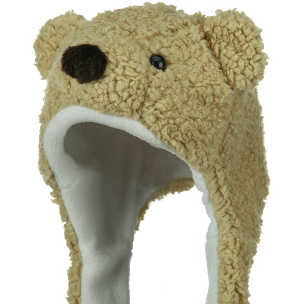 Fleece ML Animal Hat - Snow Bear Khaki - Hats and Caps Online Shop - Hip Head Gear