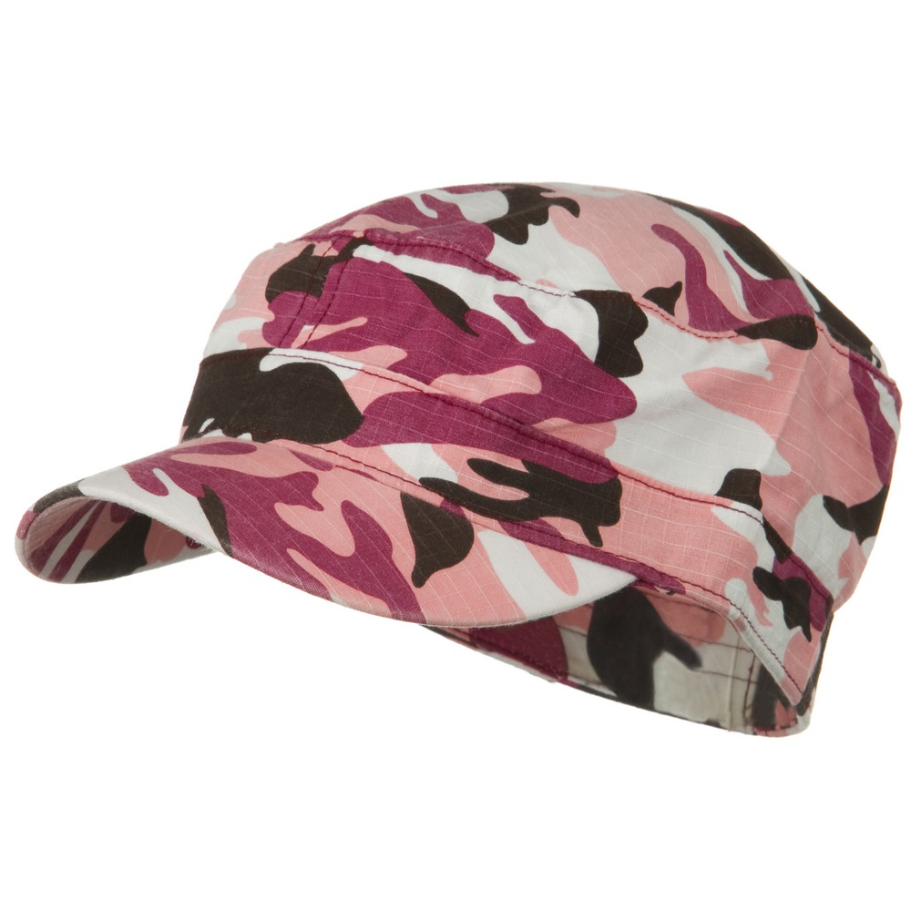 Fitted Cotton Ripstop Army Cap-Pink Camo - Hats and Caps Online Shop - Hip Head Gear