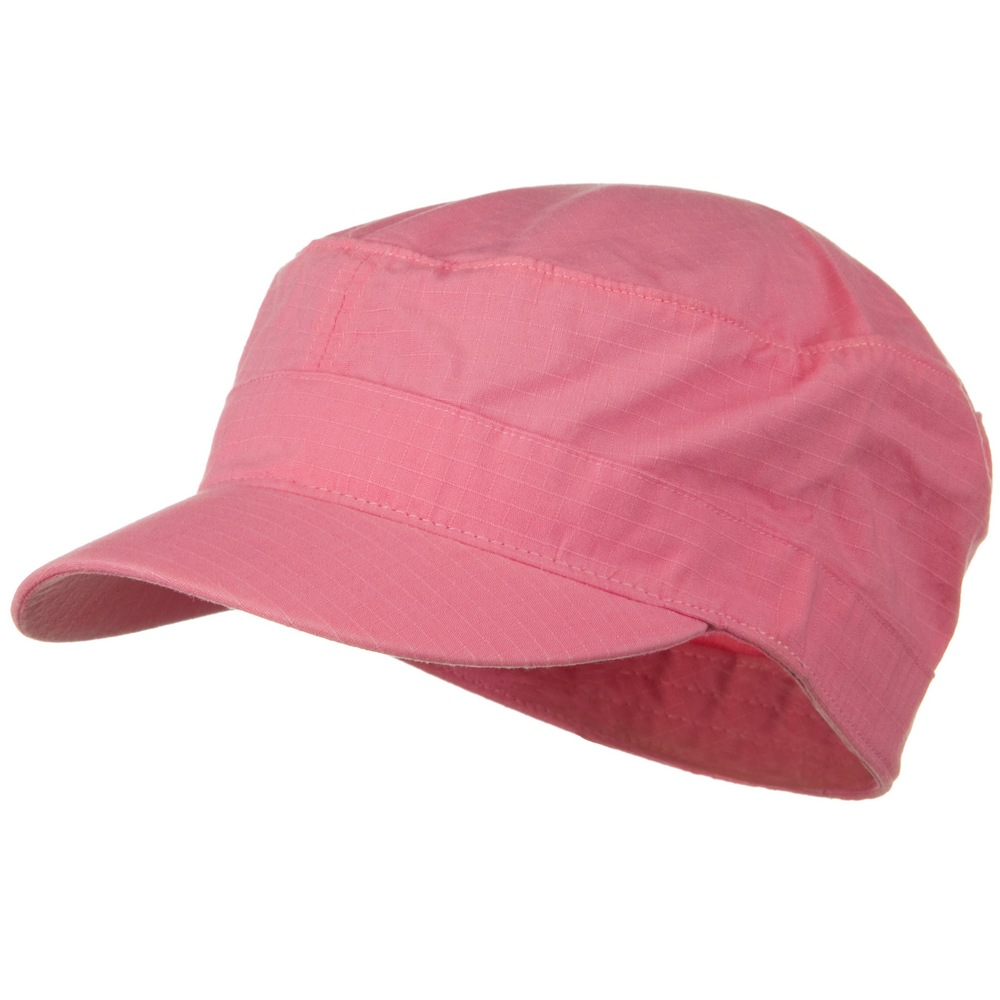 Fitted Cotton Ripstop Army Cap-Pink - Hats and Caps Online Shop - Hip Head Gear