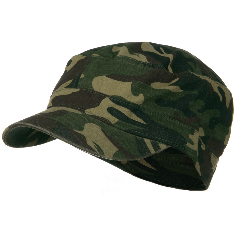 Fitted Cotton Ripstop Army Cap-Green Camo - Hats and Caps Online Shop - Hip Head Gear