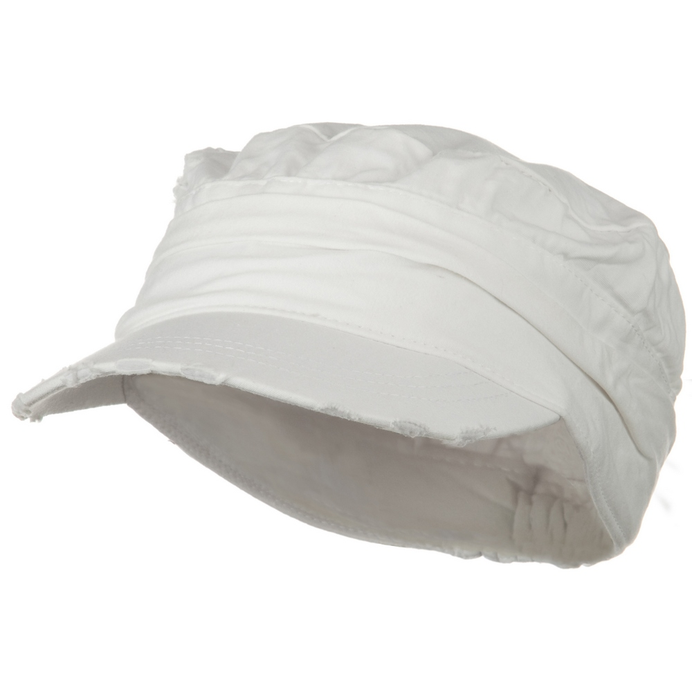 Vintage Army Cap-White - Hats and Caps Online Shop - Hip Head Gear