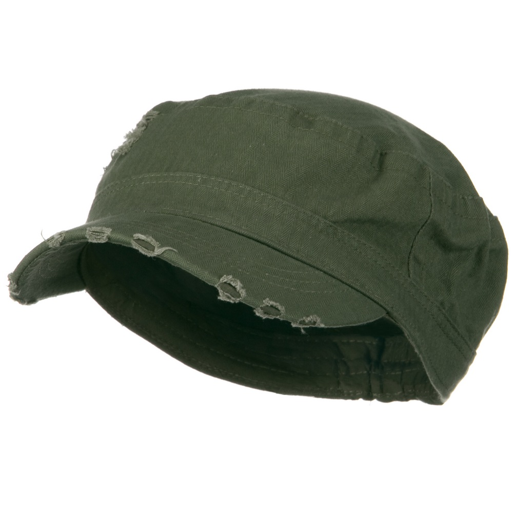 Cotton Herringbone Army Cap-Olive - Hats and Caps Online Shop - Hip Head Gear