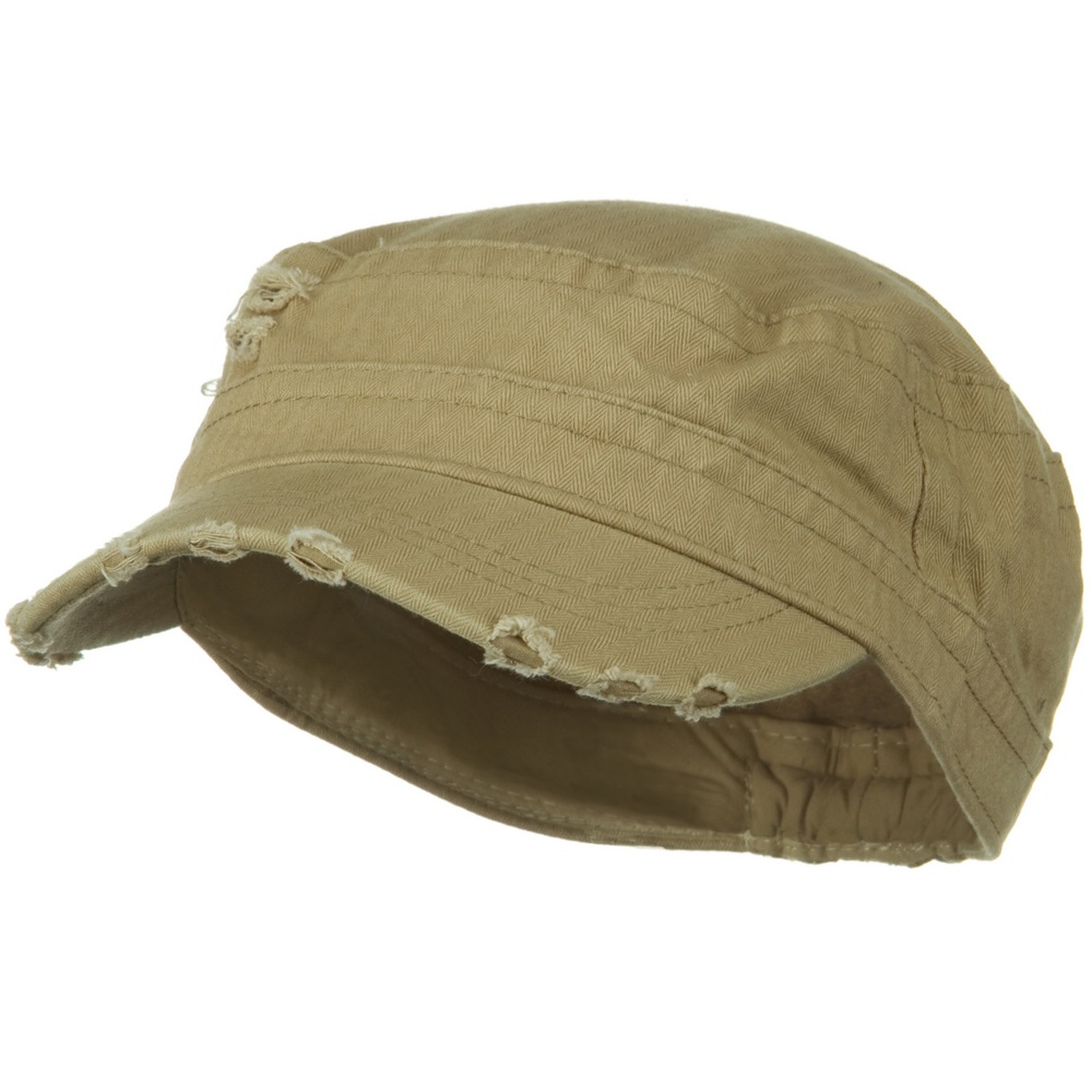 Cotton Herringbone Army Cap-Tan - Hats and Caps Online Shop - Hip Head Gear