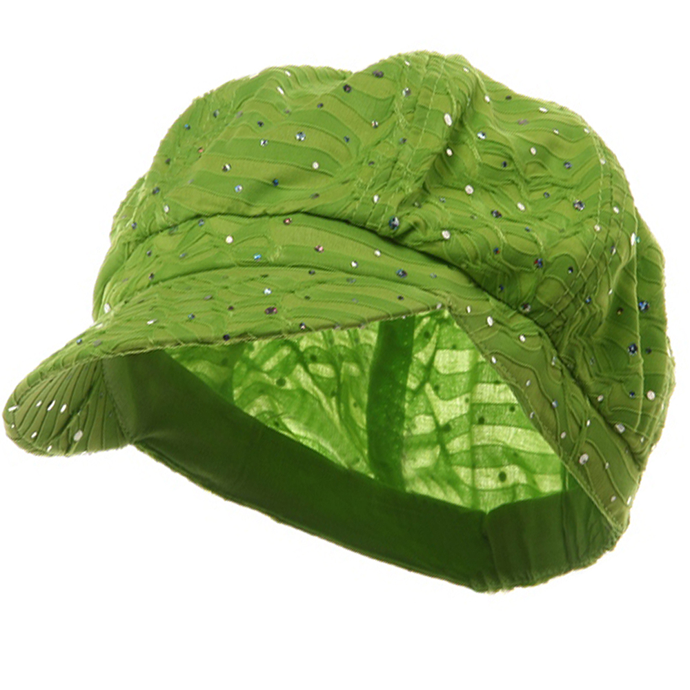 Glitter Newsboy Cap- Lime - Hats and Caps Online Shop - Hip Head Gear