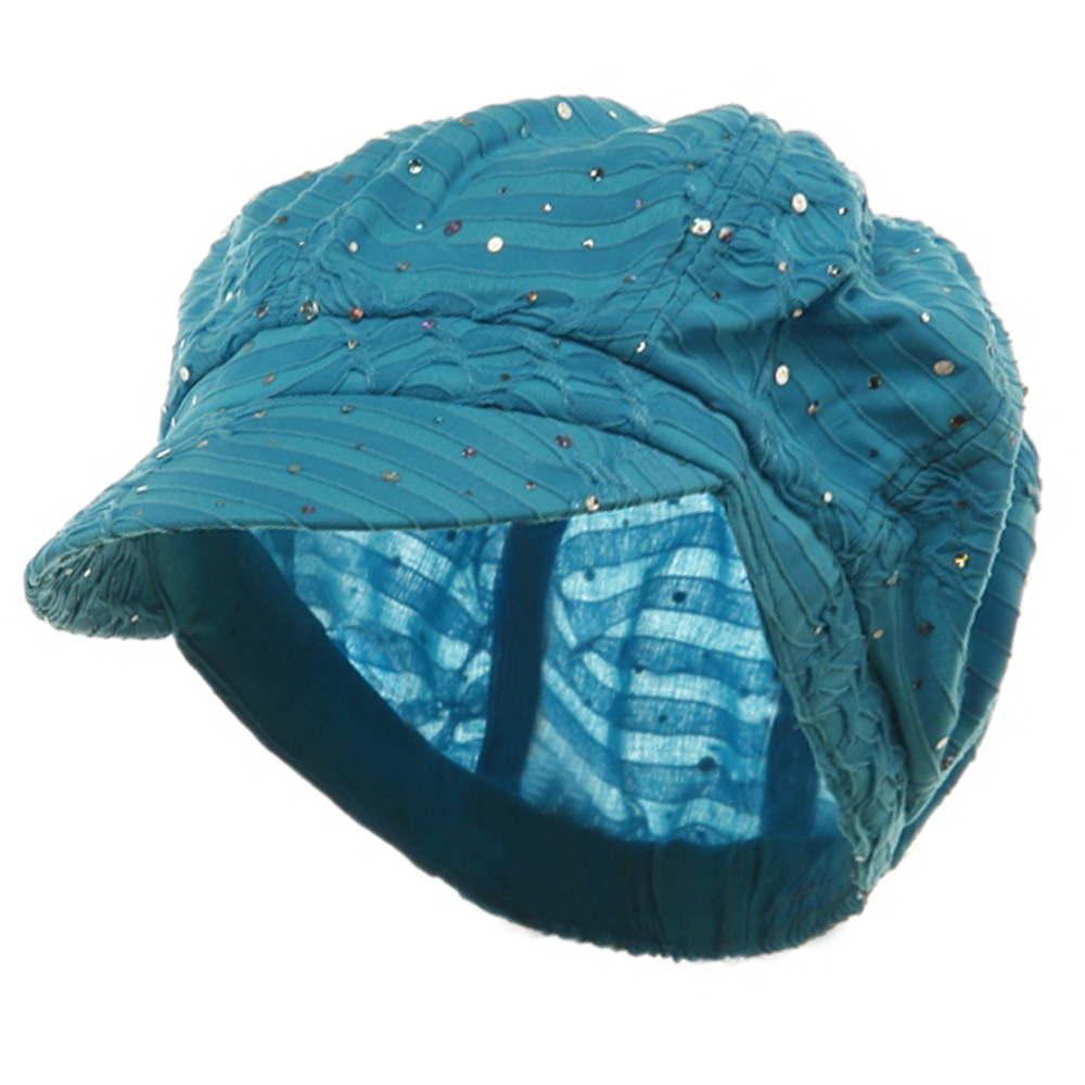 Glitter Newsboy Cap-Turquoise - Hats and Caps Online Shop - Hip Head Gear