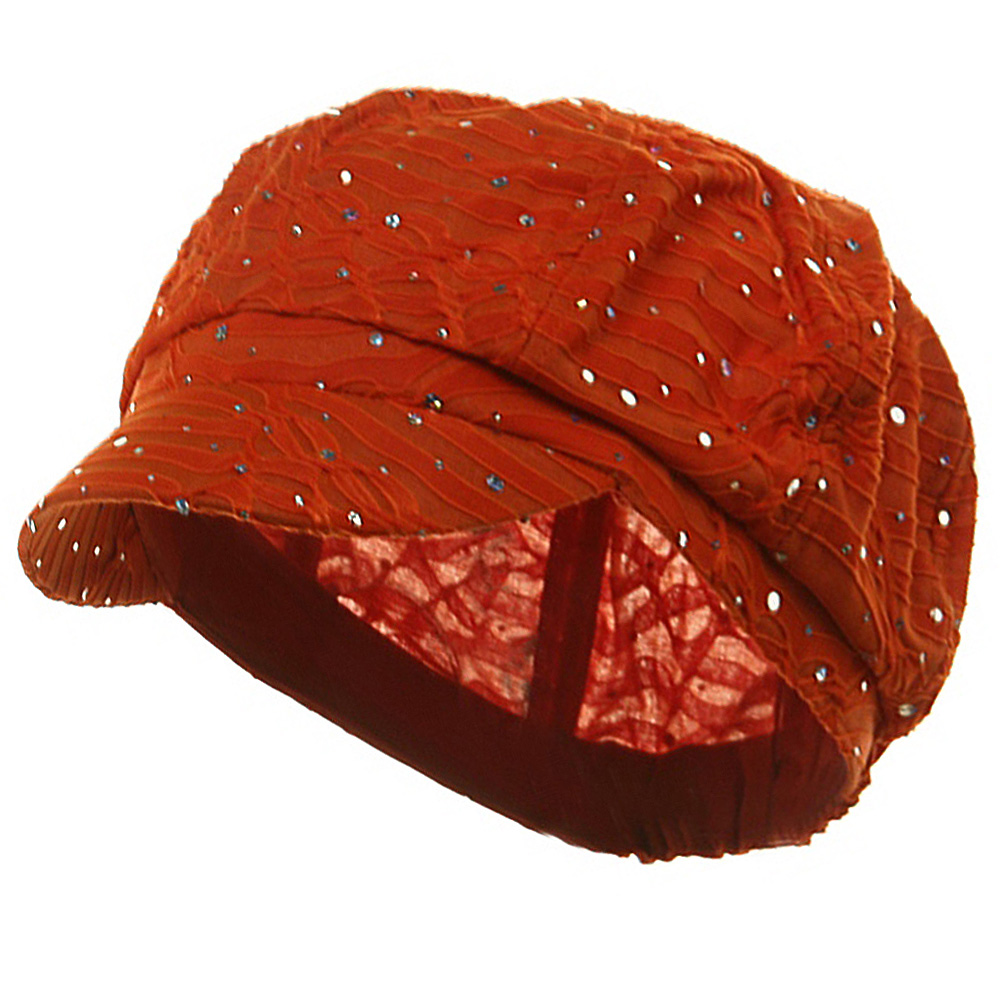 Glitter Newsboy Cap- Orange - Hats and Caps Online Shop - Hip Head Gear