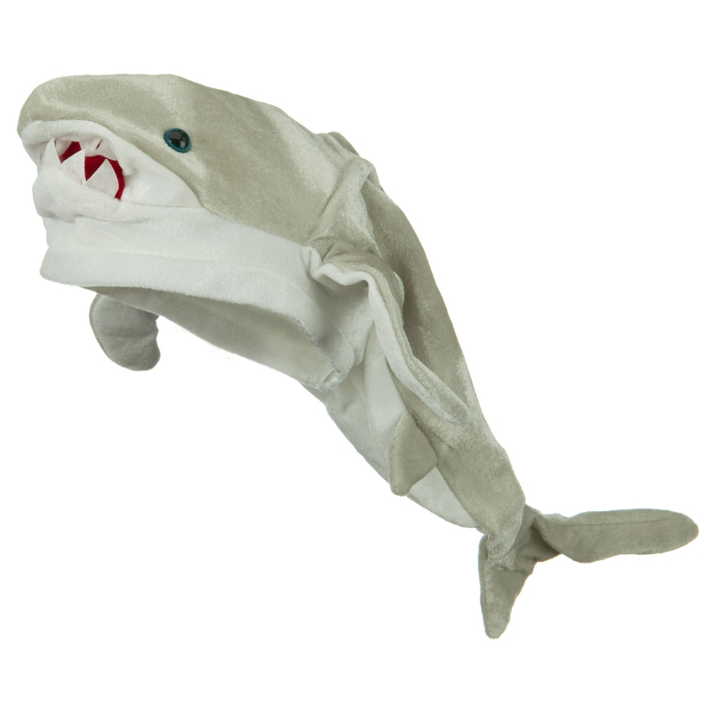 Shark Hat - Grey White - Hats and Caps Online Shop - Hip Head Gear