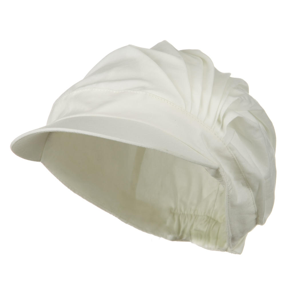 UV 50+ Cotton Pleated Hat - Ivory - Hats and Caps Online Shop - Hip Head Gear