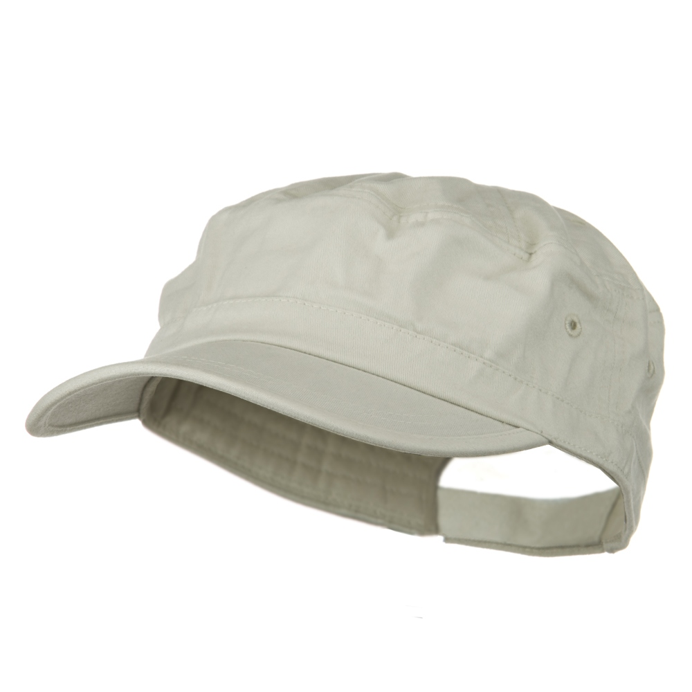 Big Size Solid Enzyme Military Army Cap - Beige - Hats and Caps Online Shop - Hip Head Gear