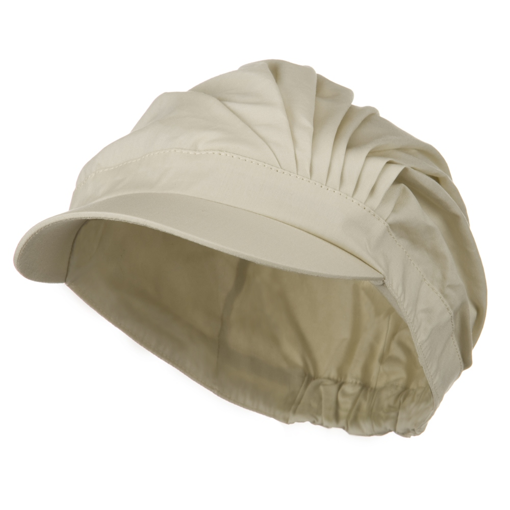 UV 50+ Cotton Pleated Hat - Beige - Hats and Caps Online Shop - Hip Head Gear