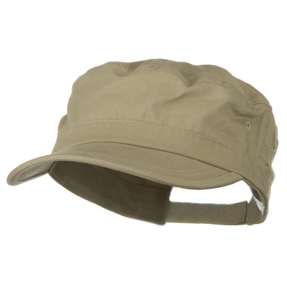 Big Size Solid Enzyme Military Army Cap - Khaki - Hats and Caps Online Shop - Hip Head Gear