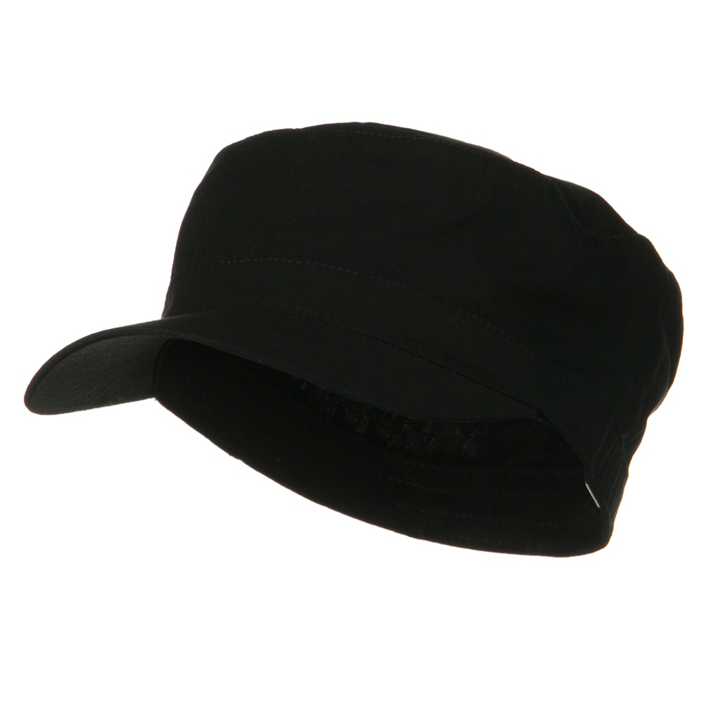 Big Size Fitted Cotton Ripstop Military Army Cap - Black - Hats and Caps Online Shop - Hip Head Gear