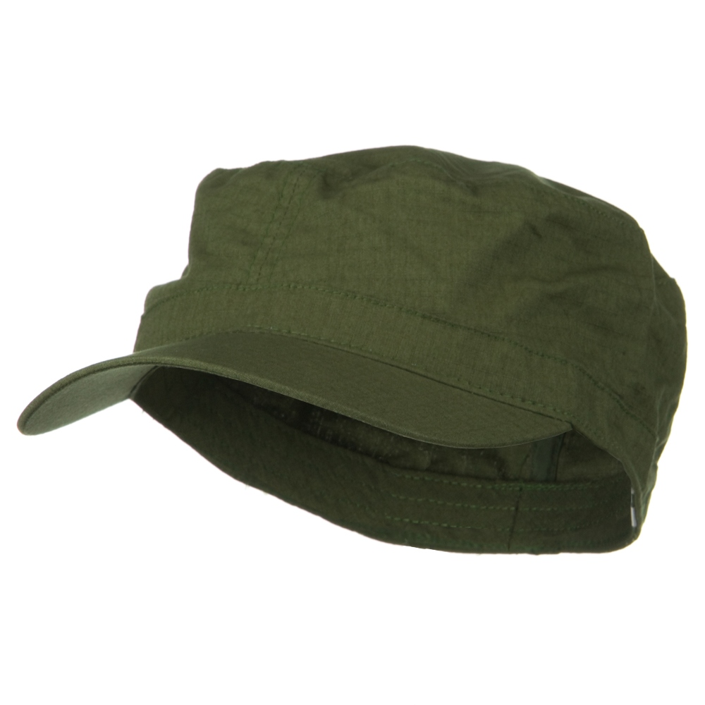 Big Size Fitted Cotton Ripstop Military Army Cap - Olive - Hats and Caps Online Shop - Hip Head Gear
