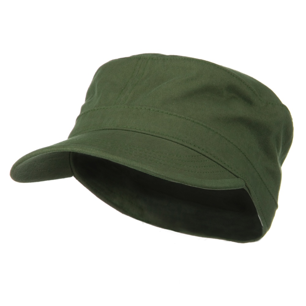 Big Size Cotton Fitted Military Cap - Olive - Hats and Caps Online Shop - Hip Head Gear