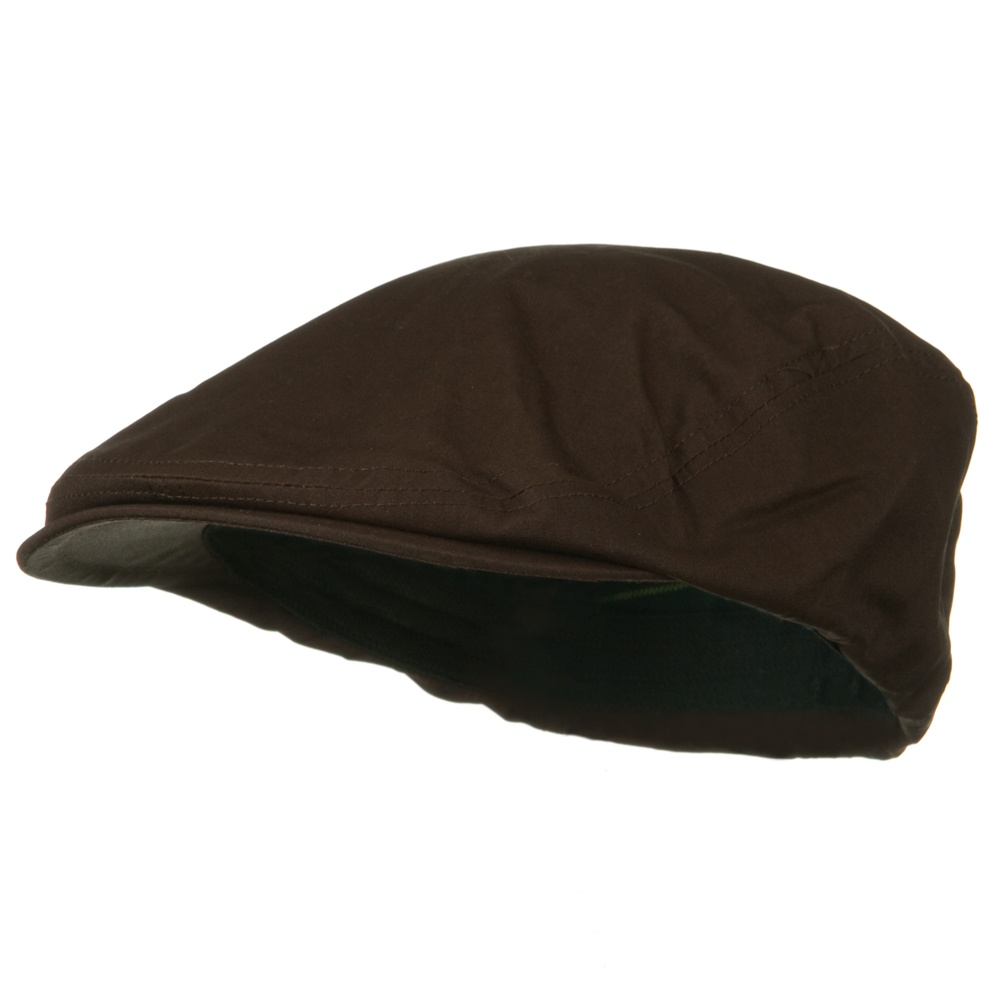 Waxed Cotton Canvas Ivy Cap - Brown - Hats and Caps Online Shop - Hip Head Gear
