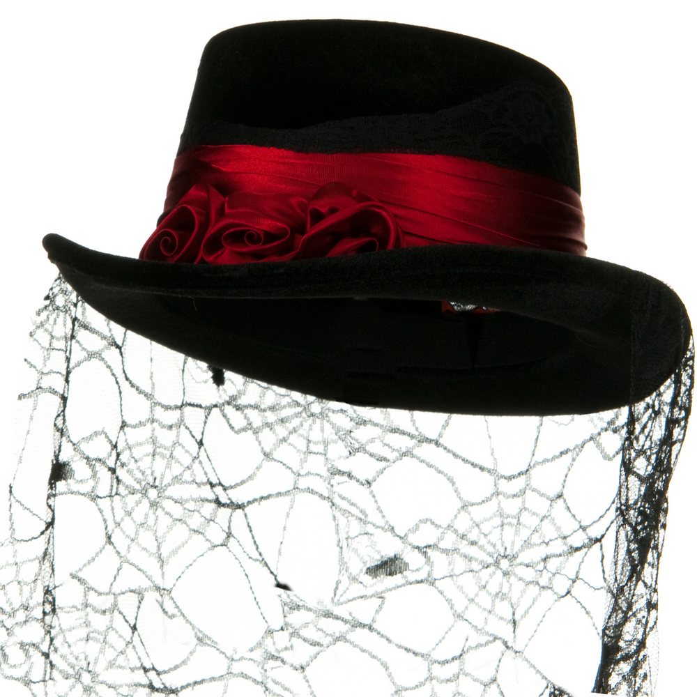 Top Hat - Gothic Rose - Hats and Caps Online Shop - Hip Head Gear