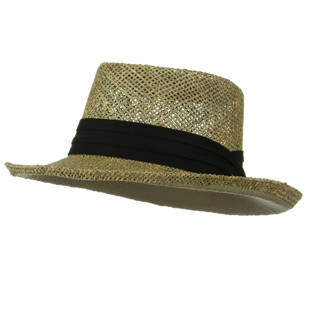 ML Banded Gambler Straw Hat - Black Band - Hats and Caps Online Shop - Hip Head Gear