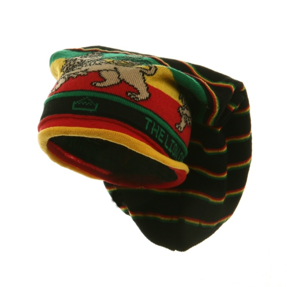 Long Lion Rasta Beanies-Bar Design - Hats and Caps Online Shop - Hip Head Gear